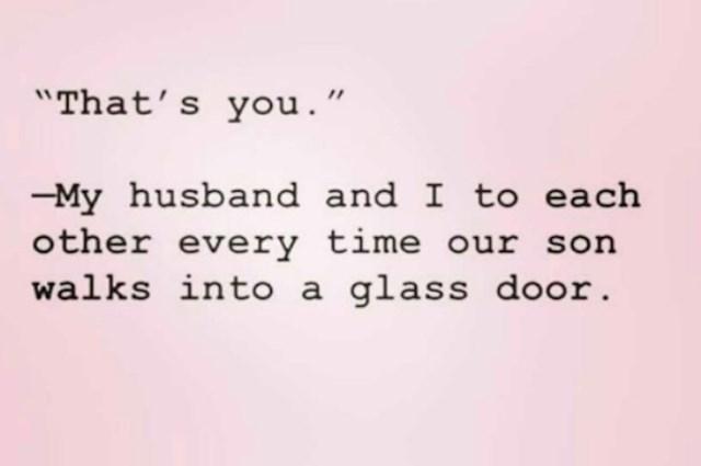 Na tebe je - prva rečenica mužu svaki put kad sin udari glavom u staklena vrata