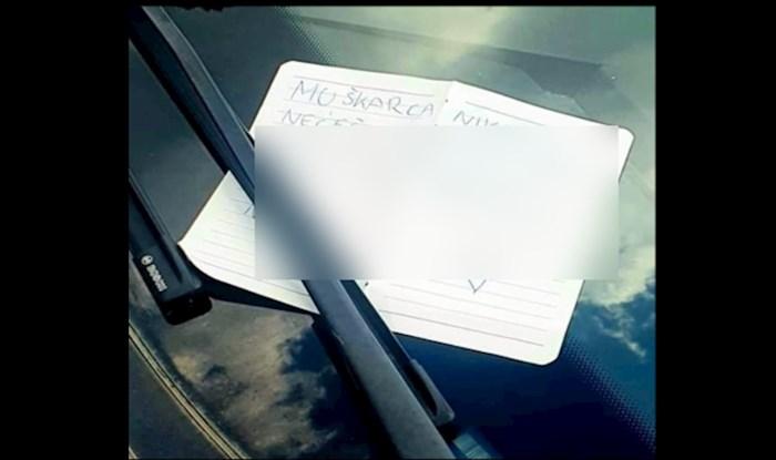 Pogledajte kakvu je poruku dobila cura koja je blokirala tipa na parkingu