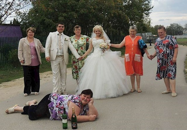 Jedna obiteljska poslije vjenčanja...
