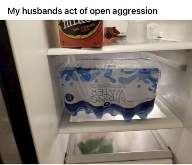 Muž je ovako spremio vodu u hladnjak