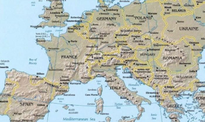 Samo će iznimno inteligentni ljudi moći prepoznati što sve nije u redu s ovom kartom Europe