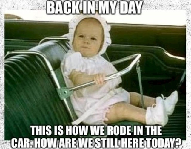 Dječja sjedalica osamdesetih