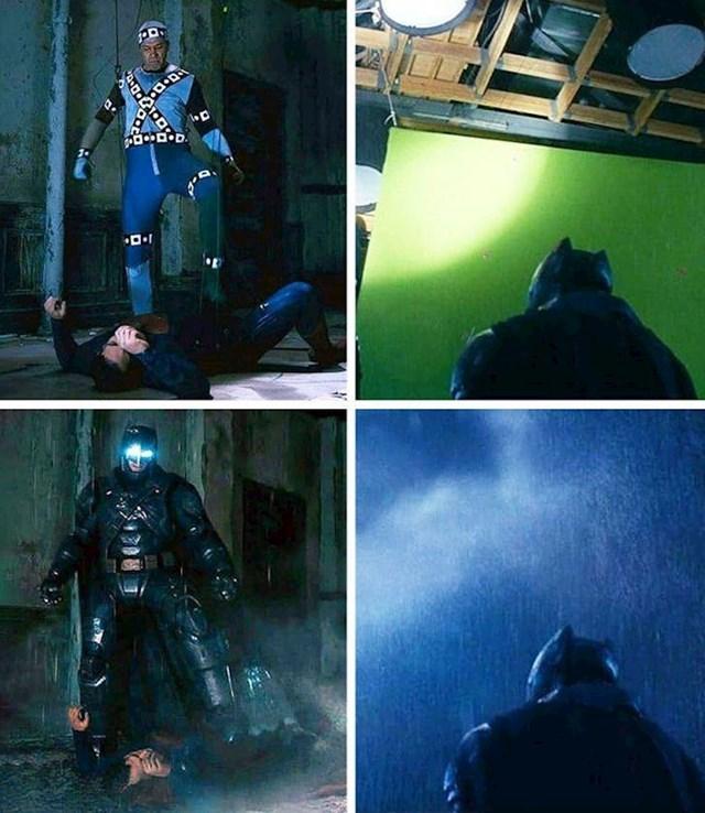 Batman v Superman: Dawn of Justice ; usporedba kako to izgleda na setu, za vrijeme snimanja i onoga što vidimo na ekranu