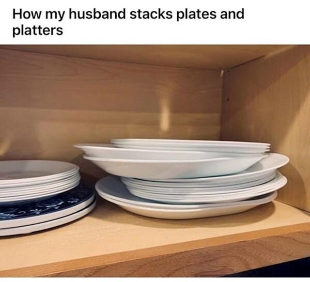 """""""Ovako moj muž slaže tanjure nakon pranja"""""""