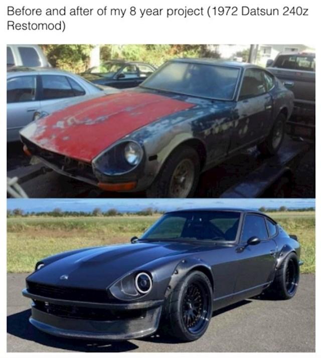 Auto prije i nakon 8 godina rada na njemu