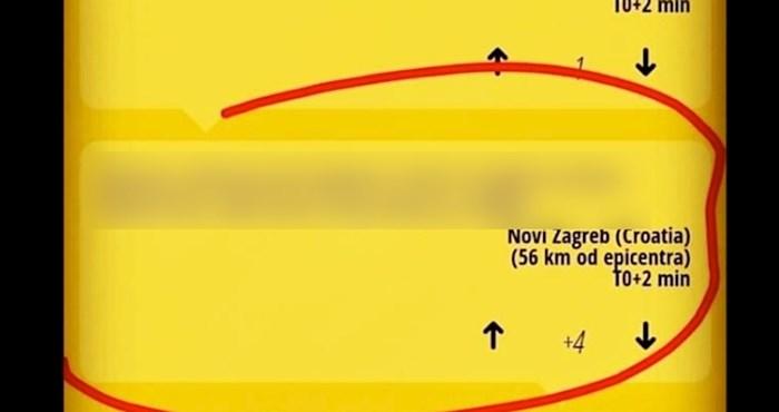 Morate vidjeti kako je ovaj tip iz Zagreba prijavio da je osjetio potres