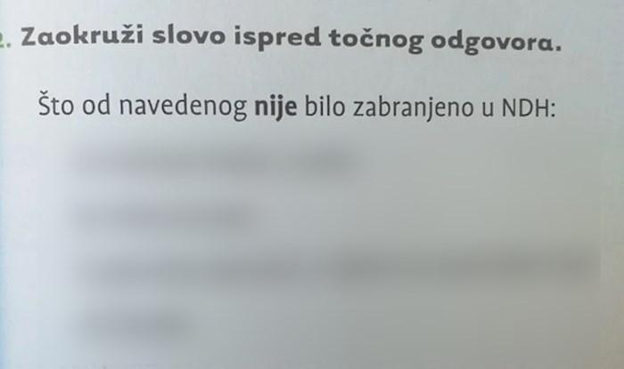 Širi se pomalo bizarno pitanje iz udžbenika iz povijesti: Što od ovog nije bilo zabranjeno u NDH?