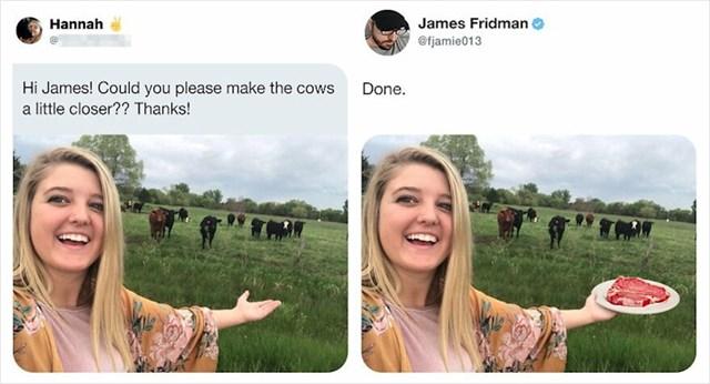 Možeš li napraviti da su krave bliže?