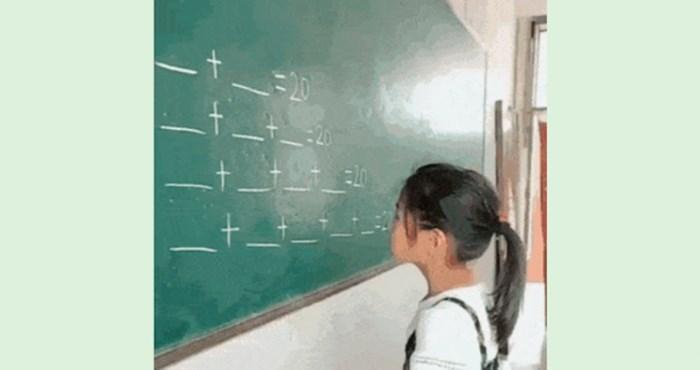 Genijalna curica u 5 sekundi riješila matematički problem, naučite i vi kako