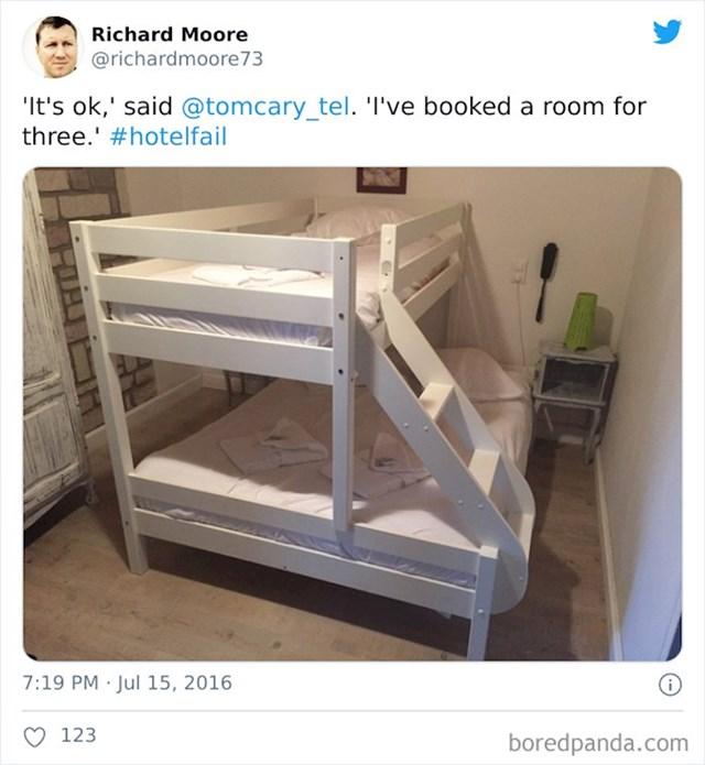 Rezervirali smo sobu za troje