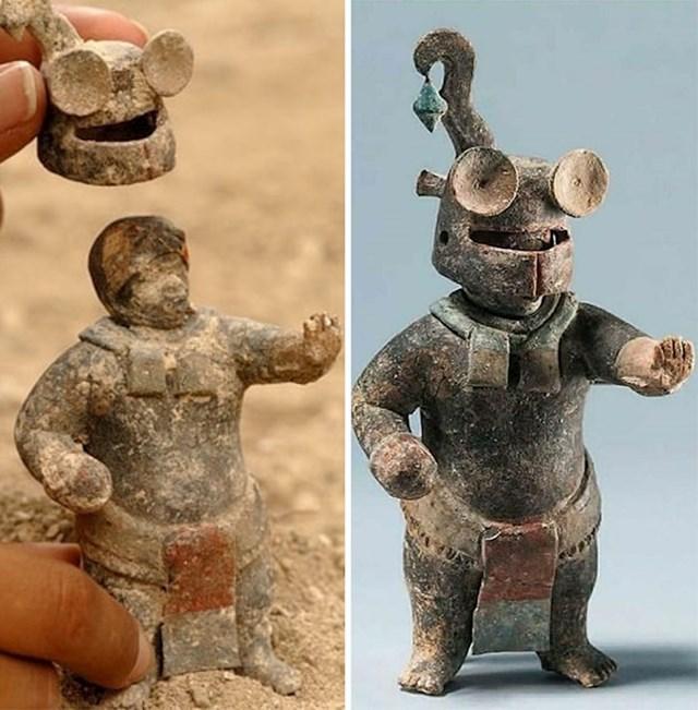 Više od 1,500 godina keramička skultpura iz kulture Maja. Kaciga se mogla skinuti