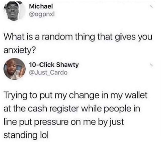 Ono kad se znojiš od stresa dok spremaš lovu u novčanik, a ljudi čekaju iza tebe
