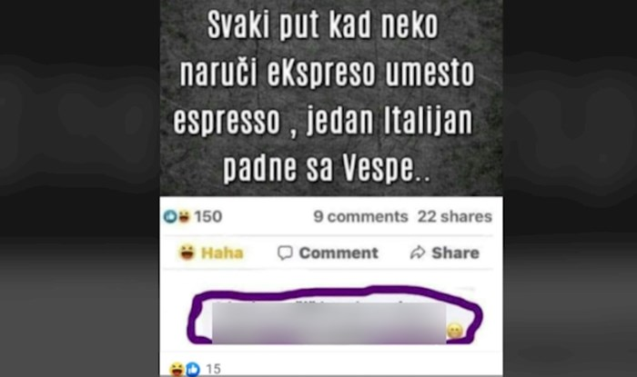 Ljudi umiru od smijeha na komentar jednog Bosanca na objavu o espressu