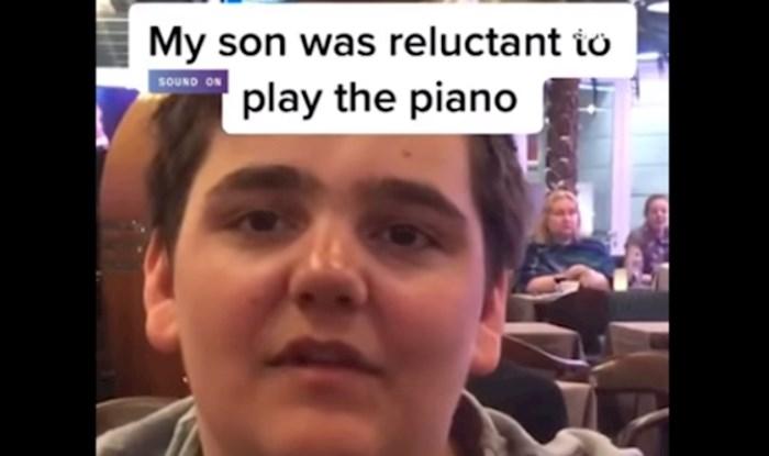 Viralni video: Tata i sin vidjeli su glasovir dok su čekali avion, nagovorio ga je da zasvira...