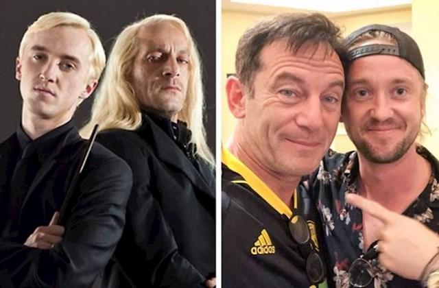 Tom Felton i Jason Isaacs (Draco Malfoy i Lucius Malfoy)