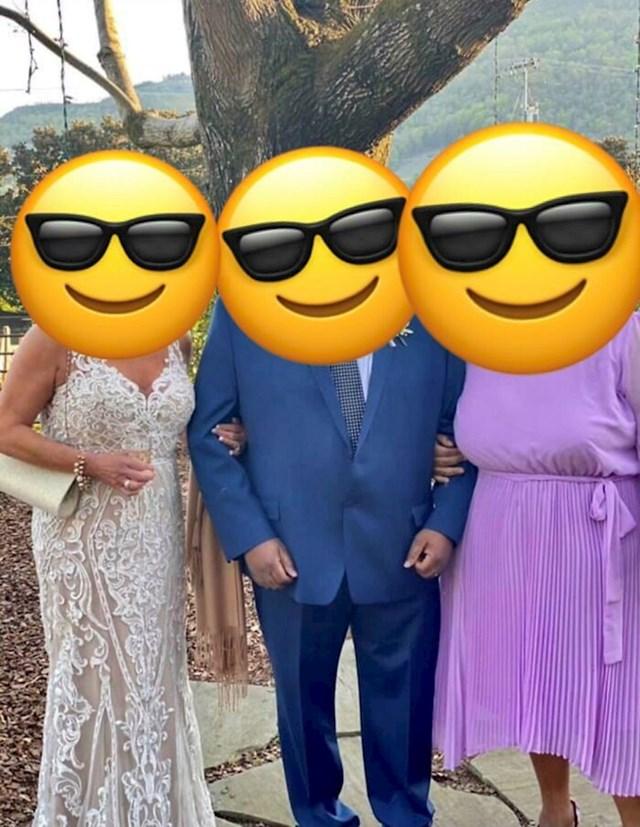 Ova gospođa lijevo također nije mlada na vjenčanju