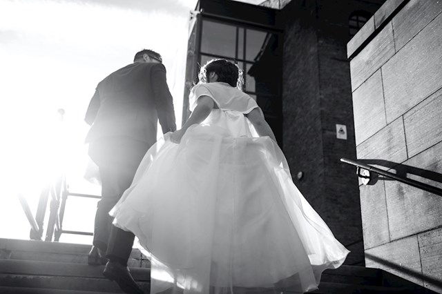 Vjenčanje je bilo u veljači, vani 1 stupanj. Nismo smjeli nositi kapute jer to nije dovoljno svečano