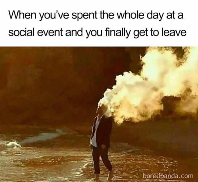 Ja nakon čitavog dana na mjestu s puno ljudi