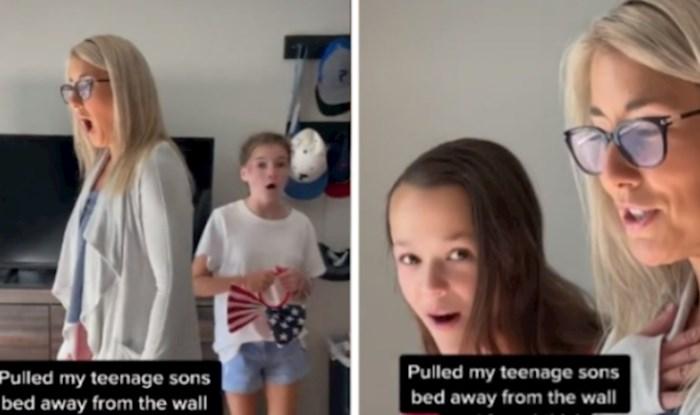 Viralni video: Mama je odlučila vidjeti što sin skriva iza kreveta, internet (i ona) su u šoku