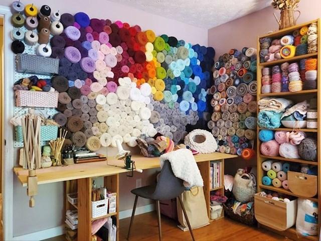 Kutak s vunom mi je najdraži kutak mog radnog prostora