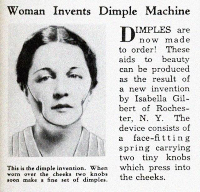Ova žena je izmisila uređej koji obećava pojavu rupica na obrazima nakon nošenja