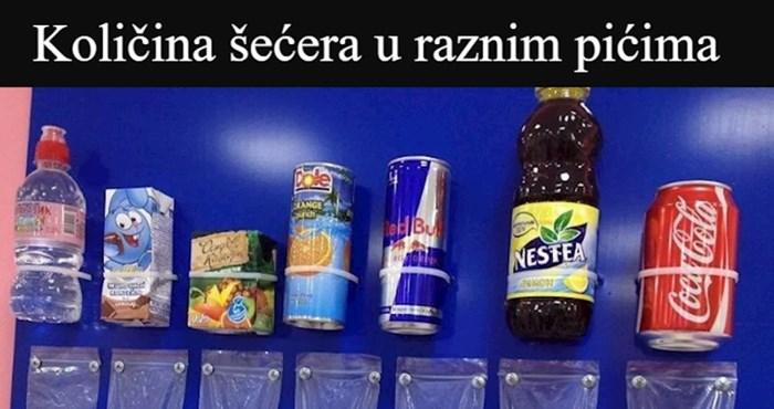 Ronaldo je ovu fotku opet učinio viralnom: Iznenadit će vas količina šećera u u popularnim pićima