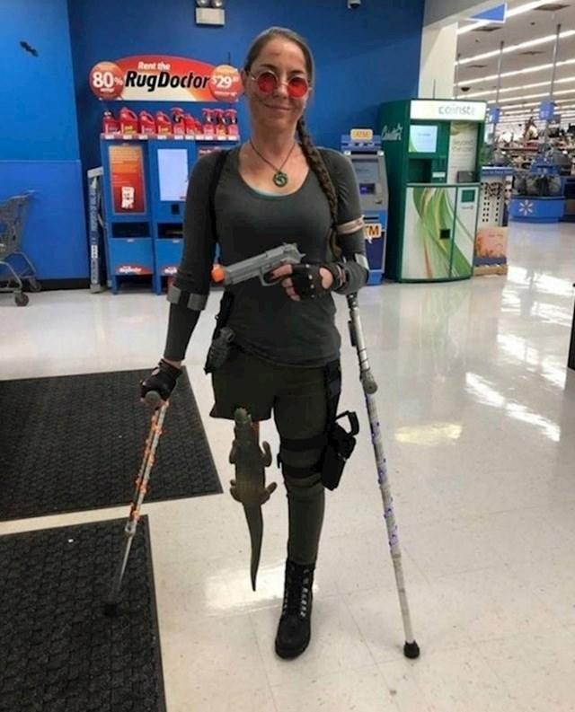 Izgubila je nogu, ali ne i smisao za humor
