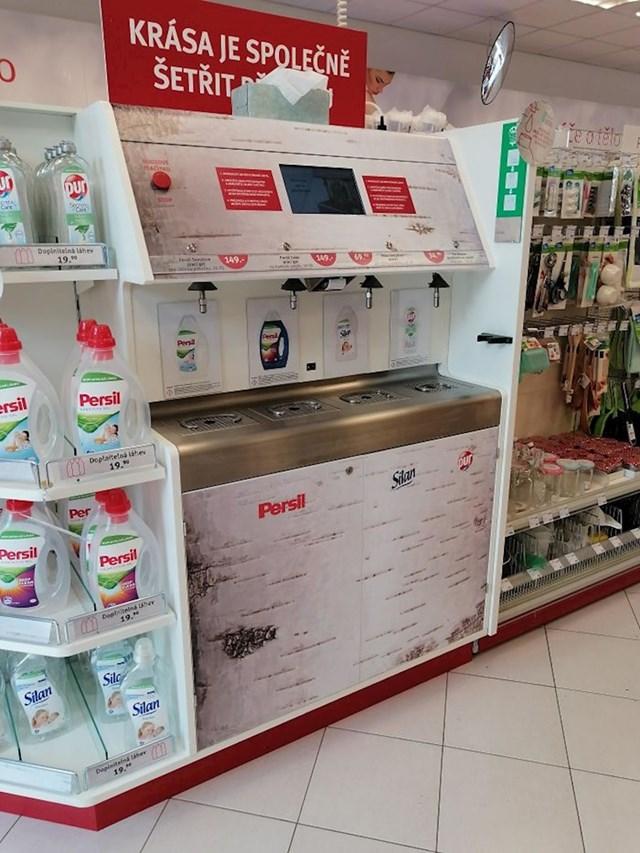Na ovom mjestu u Pragu deterdžent možeš puniti u svoju već korištenu bocu