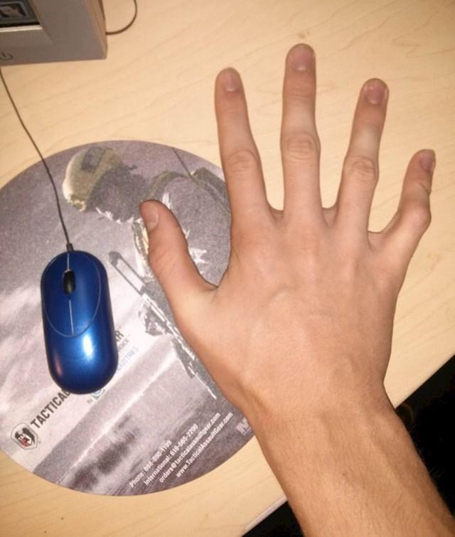 ... da jednim prstom možeš upravljati mišem