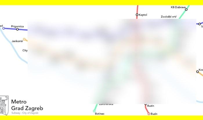 Netko je napravio prijedlog linija za metro u Zagrebu, dosta dobro izgleda