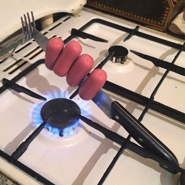 Kako pripremiti hrenovčice bez lonca ili tave