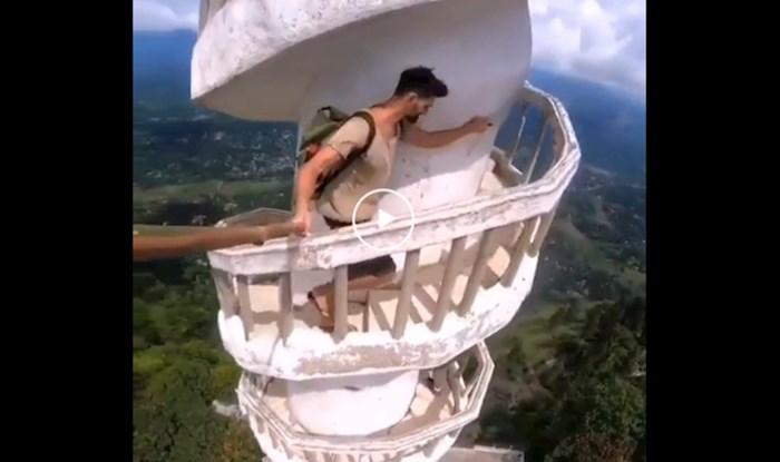 Nestvarna snimka penjanja na 3500 metara nadmorske visine, nije za one koji se boje visine