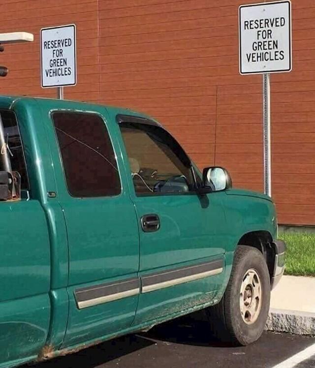 """Rezervirano za """"zelena"""" vozila. Iskoristio rupu u zakonu"""