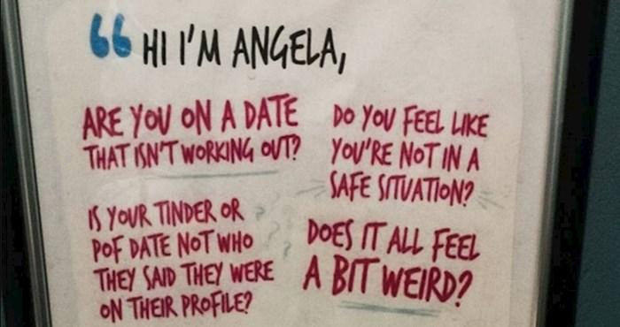 Znate li što znači kada u restoranu u pitate za Angelu? Odlična ideja koja vam može i spasiti život