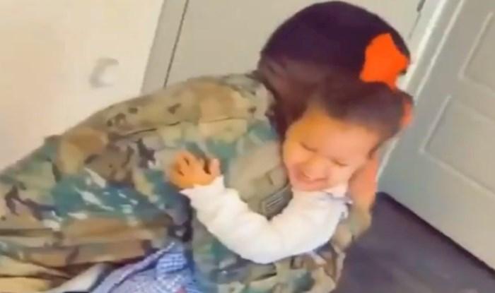 Djevojčica koja se obradovala tati nakon 7 mjeseci podsjetit će vas što je u životu važno