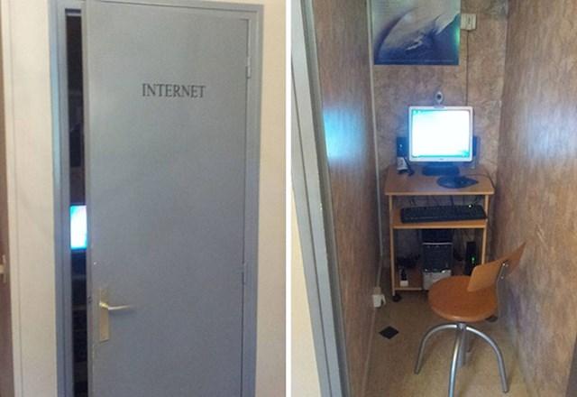 Ovo je soba za internet