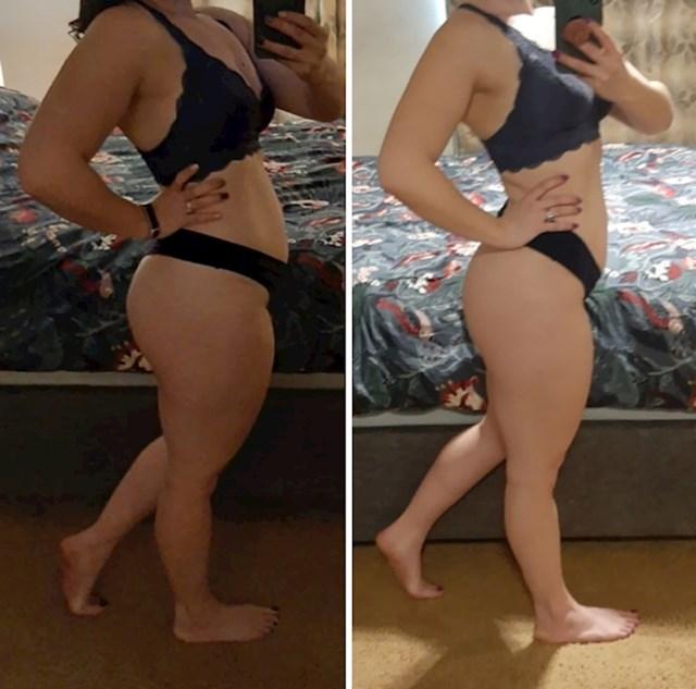 Jednak broj kilograma na obje fotke