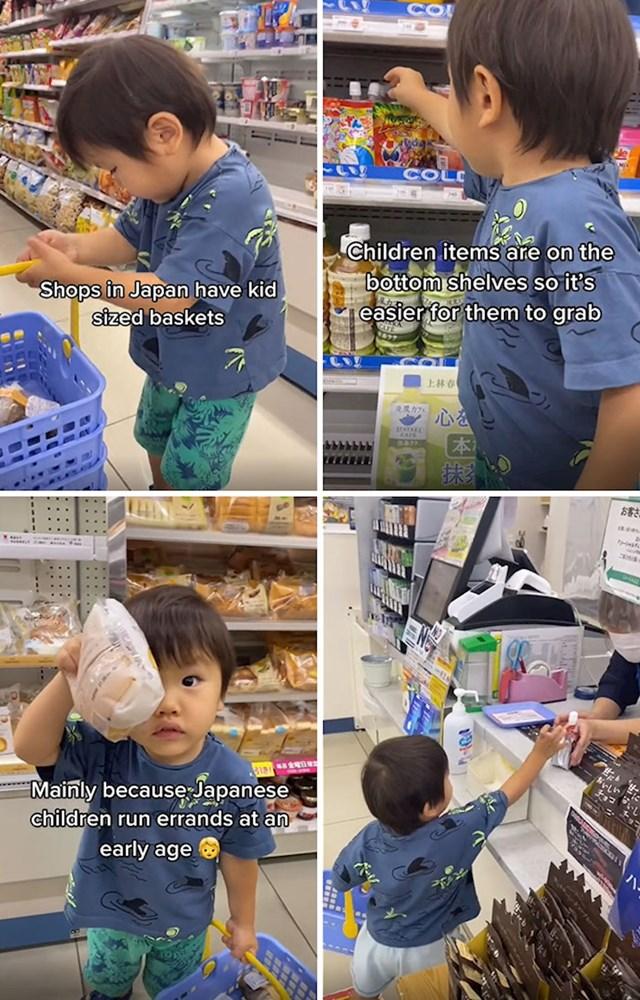 U trgovinama postoje košare za malu djecu