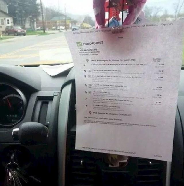 Jeste li ikad isprintali upute (i izgubili se nakon 5 minuta vožnje)