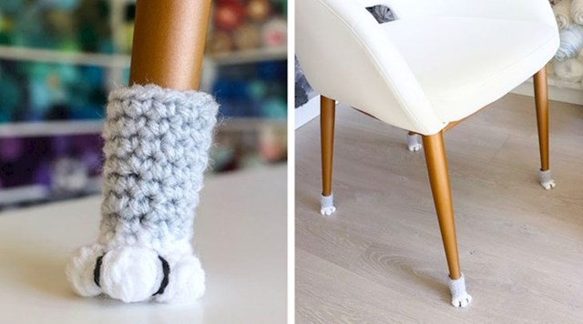 Vunene čarapice da stolica ne stvara buku pri pomicanju