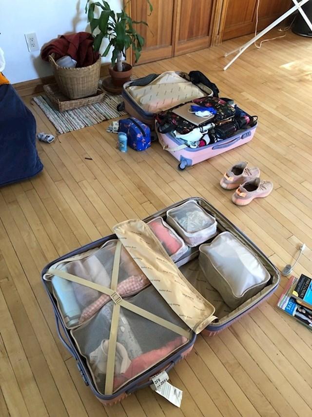 Dva načina pakiranja kofera...