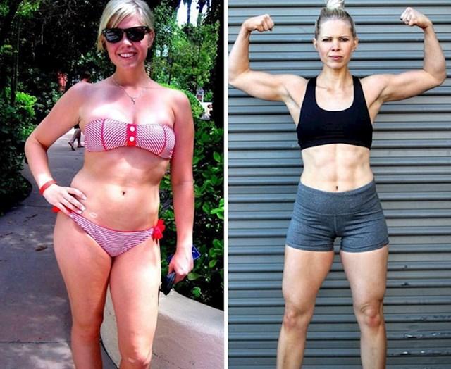 7 godina razlike, na obe fotke ima cca 63 kg