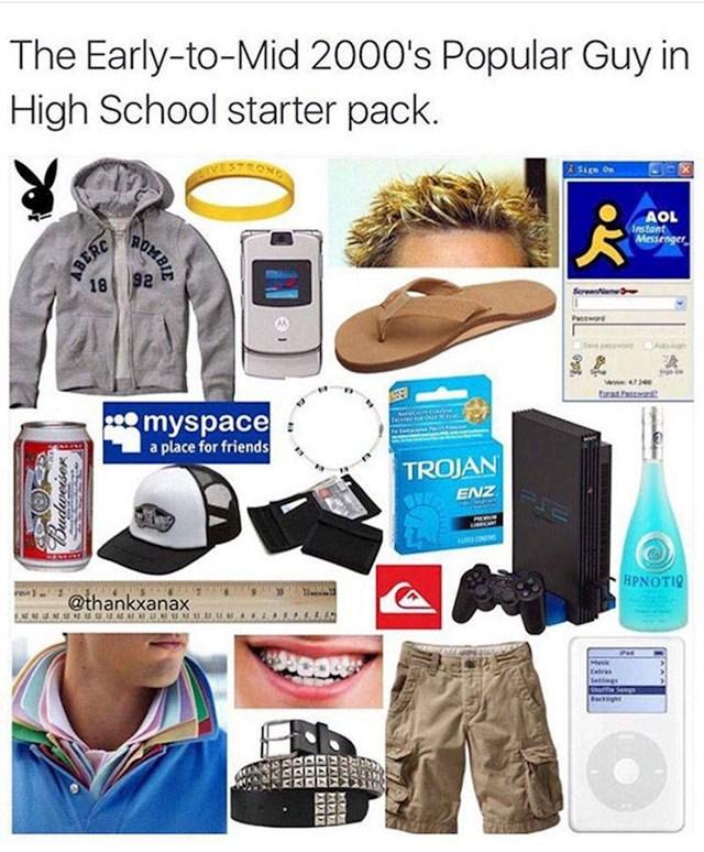 Svaki popularan tip u školi ranih 2000-ih godina: