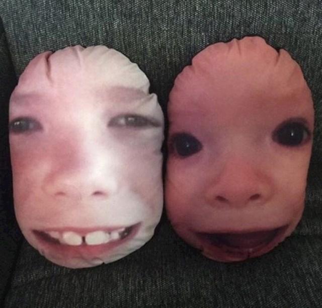 Iznenadila je sestru s jastucima s licima njene djece