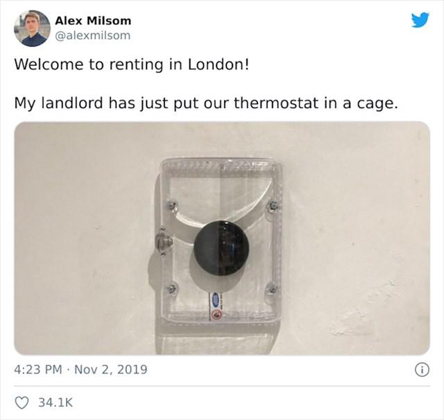 Stanodavac je stavio zaštitu tako da ne može koristiti termostat