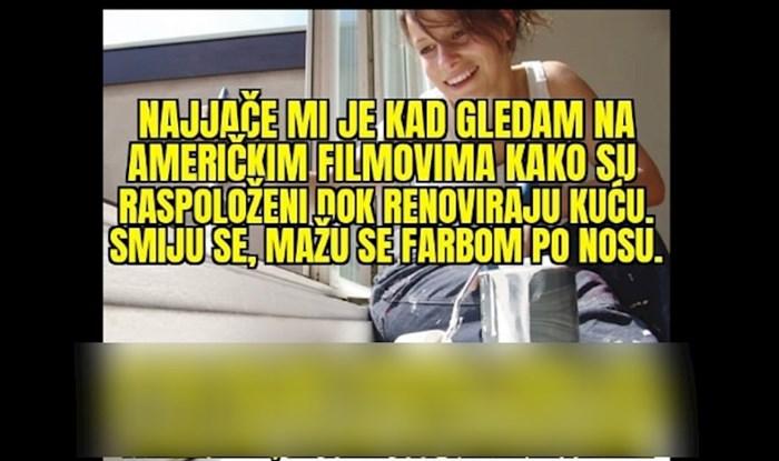 Širi se meme koji objašnjava razliku između renovacije kuće u filmovima i u Hrvatskoj, urnebesan je