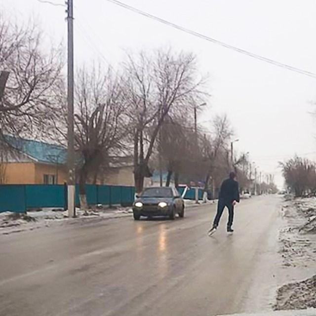 Klizanje po zaleđenoj cesti