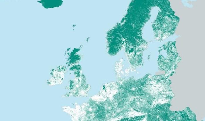 Ova mapa prikazuje mjesta u Europi gdje nitko ne živi. Pogledajte kako izgleda Hrvatska
