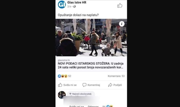 Legendarni glazbenik na fejsu je komentirao rast broja slučajeva u Istri, ljudi umiru od smijeha
