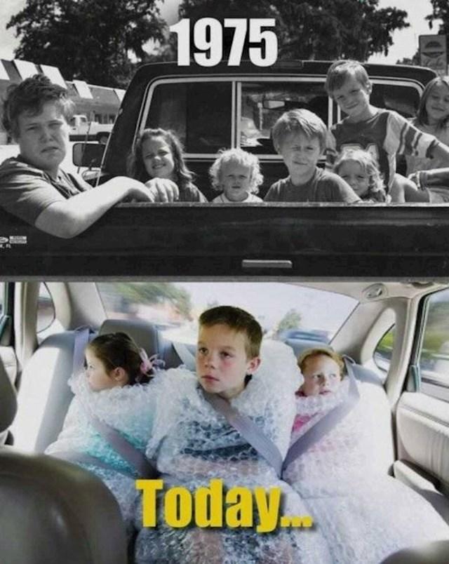 Vožnja bez pojasa bila je sasvim normalna